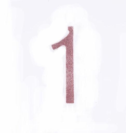 Candela 12 cm Glitter Rosa Gold numero 1