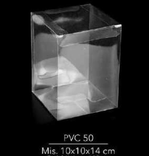 Scatola Trasparente in Pvc 10x10x14 cm 10 pezzi