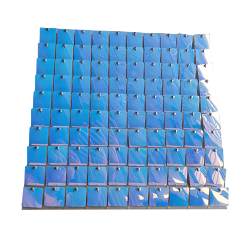 50 Pannelli Pailettes 30x30 cm Iridescente Azzurro