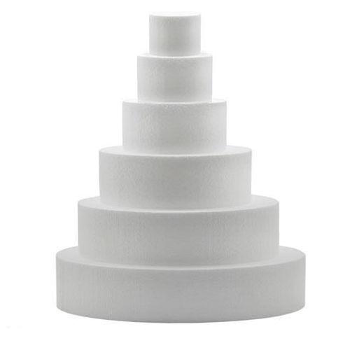Immagine di Polistirolo Tondo diametro 25 cm altezza 10 cm