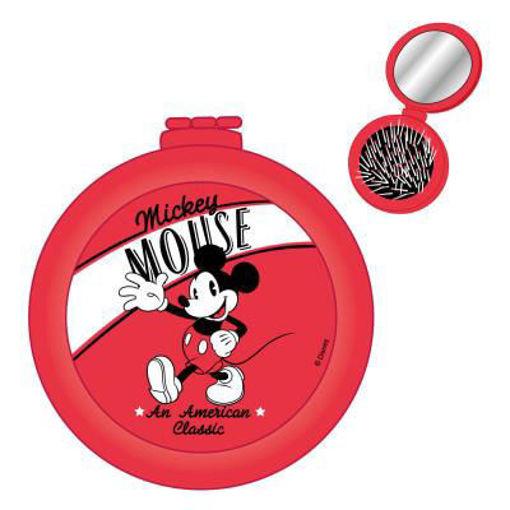Spazzola per Capelli con specchio pieghevole Disney Mckey Mouse