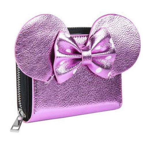 Portafoglio Metal con Fiocco Disney Minnie