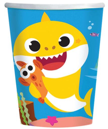 Bicchieri in carta 250 ml Baby Shark 8 pezzi