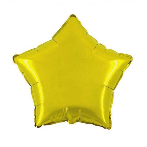 Palloncino Mylar 18'' 45 cm Giallo Oro