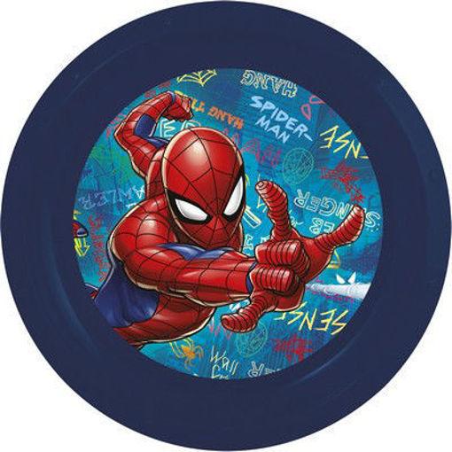 Piatto Piano in melamina Spiderman
