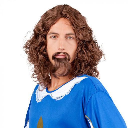 Parrucca moschettiere con barba