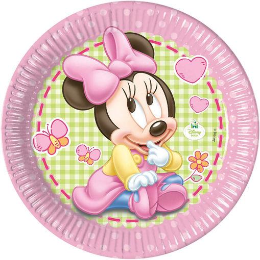 Piatti in carta 23 cm Baby Minnie 8 pezzi