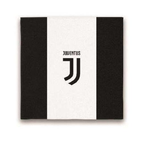 Tovaglioli 33 x 33 cm Juventus 20 pezzi