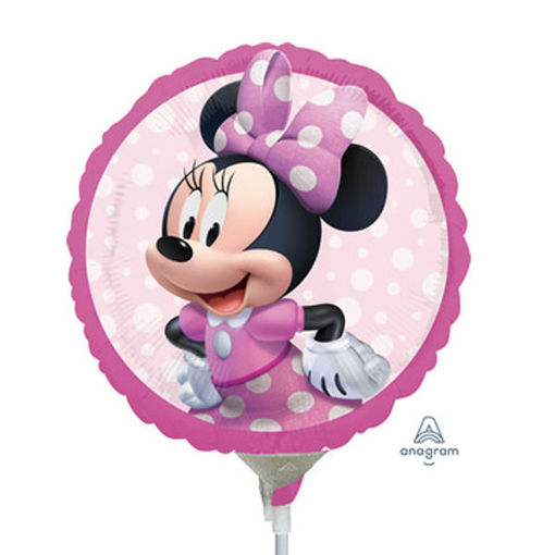 Palloncino mini shape tondo 9'' 23 cm Minnie