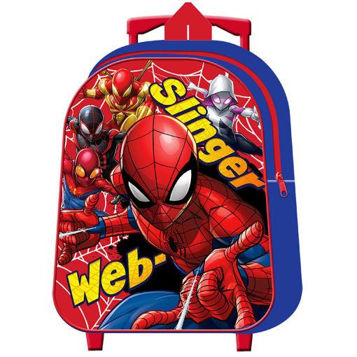 Zaino Trolley Asilo Spiderman premium
