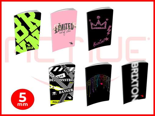 10 Maxi Quaderni 20+1 fogli Brixton Fashion 5 mm