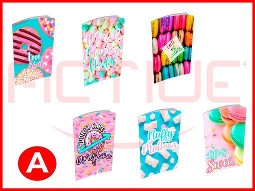 10 Maxi Quaderni 20+1 fogli Candy rigo A