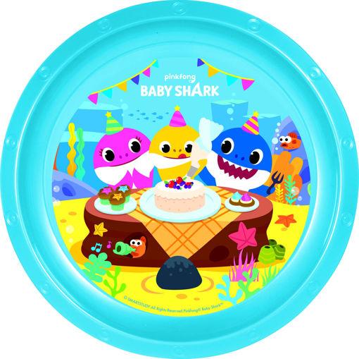 Piatto piano in melamina Baby Shark