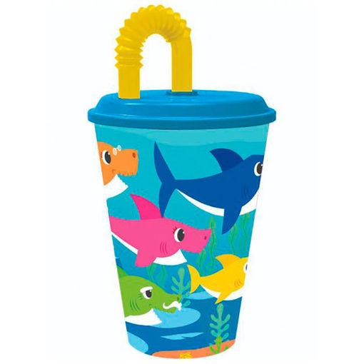 Bicchieri con Cannuccia Baby Shark