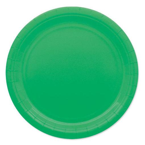 Piatti in Carta Ecolor 24 cm Verdi 25 pezzi