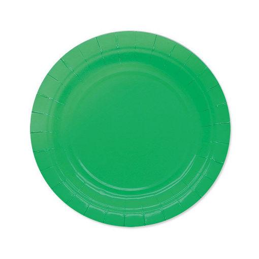 Piatti in Carta Ecolor 18 cm Verdi 25 pezzi