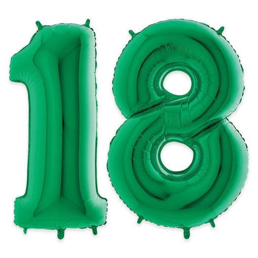 Palloncino Mylar 102 cm Verde numero 18