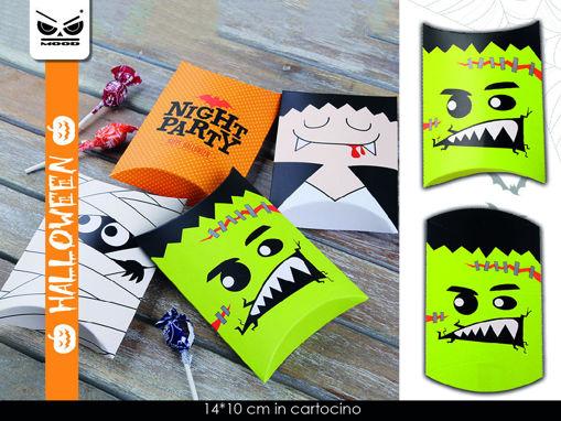 Set 3 scatole porta dolci in carta tema Halloween