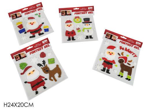 Gel Sticker con personaggio natalizio