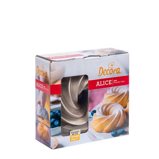 Stampo mini Alice in alluminio profuso diametro 10 cm altezza 5 cm