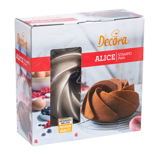 Stampo Alice in alluminio profuso diametro 24 cm altezza 9 cm