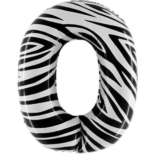 Palloncino Mylar 102 cm Zebrato numero