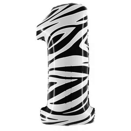 Palloncino Mylar 102 cm Zebrato numero 1