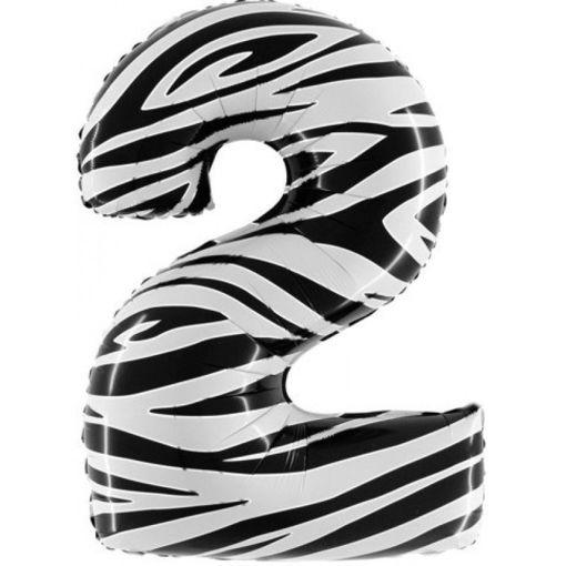 Palloncino Mylar 102 cm Zebrato numero 2