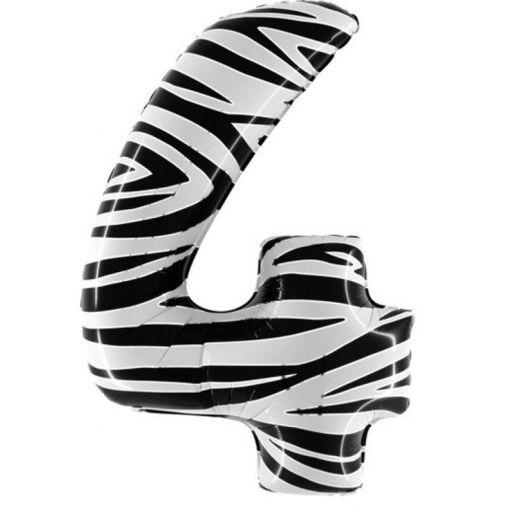 Palloncino Mylar 102 cm Zebrato numero 4