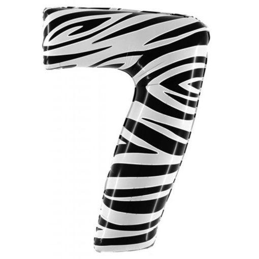 Palloncino Mylar 102 cm Zebrato numero 7