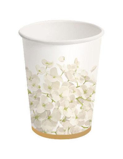 Bicchiere carta 250 ml Ortensia 8 pezzi
