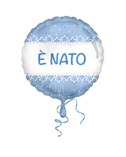 Palloncino Mylar 18'' 45 cm E' Nato stelle azzurro