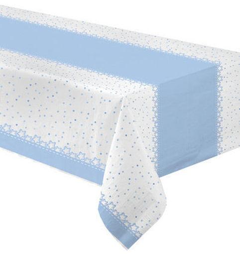 Tovaglia carta 120x180 cm Baby Stelle Azzurro