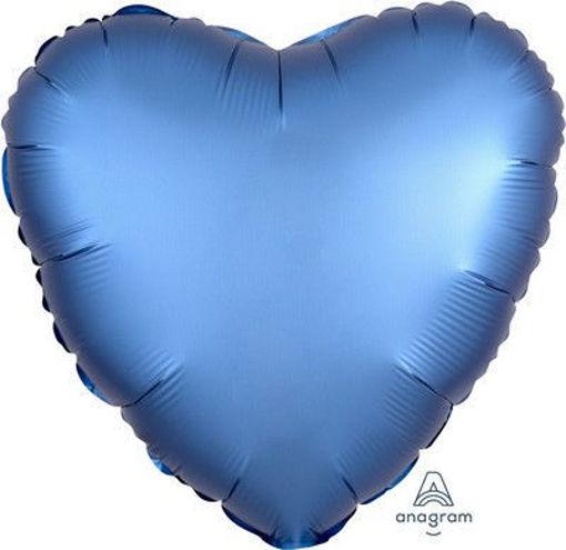 """Palloncino Mylar 17"""" 42 cm Cuore Satinato Blu Cobalto"""