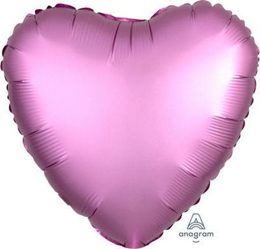 """Palloncino Mylar 17"""" 42 cm Cuore Satinato Rosa"""