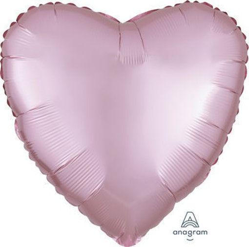 """Palloncino Mylar 17"""" 42 cm Cuore Satinato Rosa Pastello"""