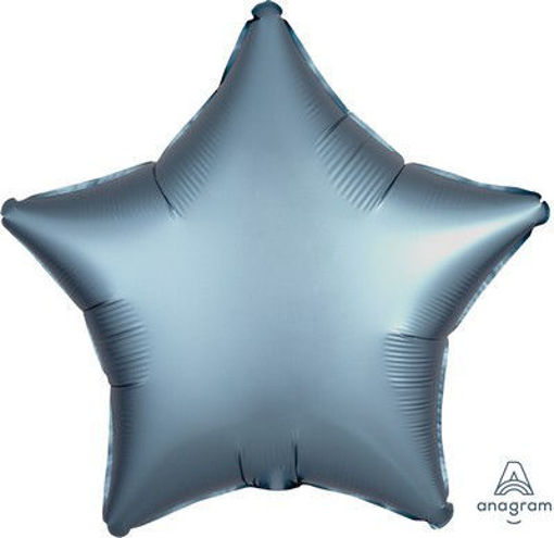 "Palloncino Mylar 17"" 42 cm Stella Satinato Blu"