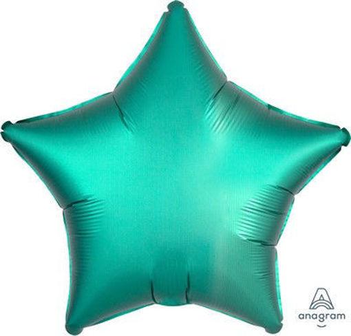 "Palloncino Mylar 17"" 42 cm Stella Satinato Verde Giada"