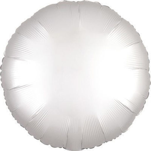 "Palloncino Mylar 17"" 42 cm Tondo Satinato Bianco"