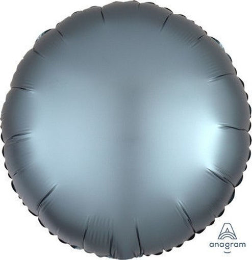 "Palloncino Mylar 17"" 42 cm Tondo Satinato Blu"