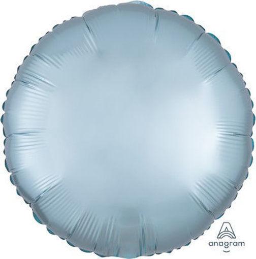 """Palloncino Mylar 17"""" 42 cm Tondo Satinato Blu Pastello"""
