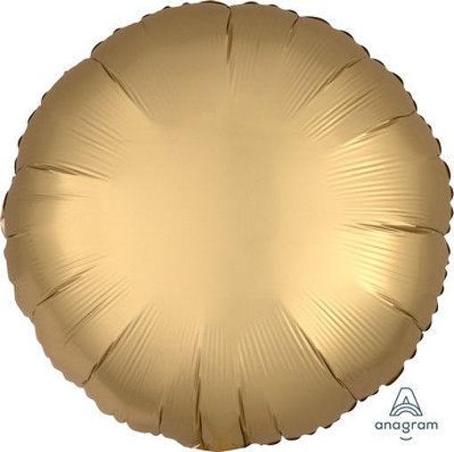 """Palloncino Mylar 17"""" 42 cm Tondo Satinato Oro"""