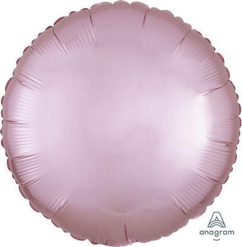 """Palloncino Mylar 17"""" 42 cm Tondo Satinato Rosa Pastello"""