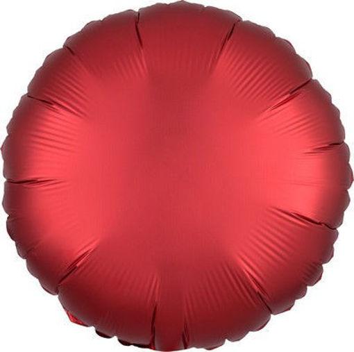 "Palloncino Mylar 17"" 42 cm Tondo Satinato Rosso Sangria"
