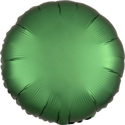 "Palloncino Mylar 17"" 42 cm Tondo Satinato Verde Smeraldo"