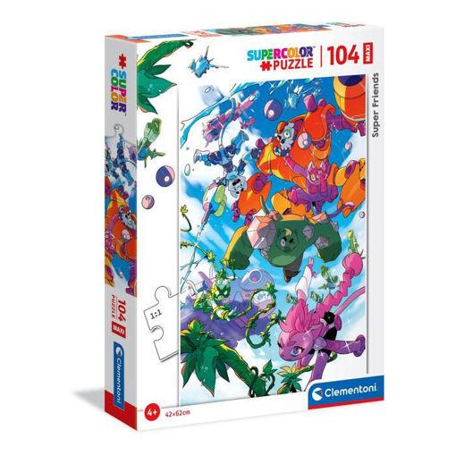 Puzzle 104 Supercolor Maxi Super Friends