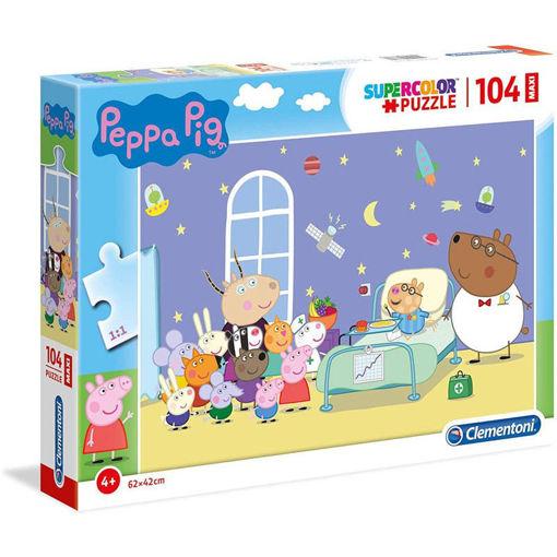 Puzzle 104 Maxi Supercolor Peppa Pig