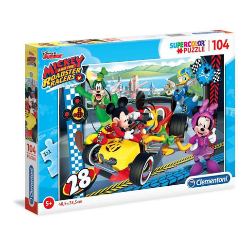 Puzzle 104 Supercolor Mickey and Roadster Racers