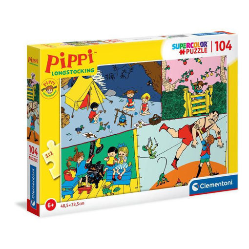 Puzzle 104 Supercolor Pippi Calzelunghe