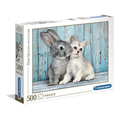 Puzzle 500 High Quality Collection Gatto e Coniglio